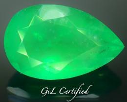 Certified 3.10 ct Columbian Emerald PR.f