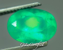 Certified 3.15 ct Natural Green Emerald ~ Columbia   PR.f