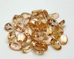 22CT MORGANITE CALIBRATED OVAL FACETED GEMSTONE LOT PARCEL