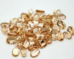 13.45CT MORGANITE CALIBRATED OVAL FACETED GEMSTONE LOT PARCEL