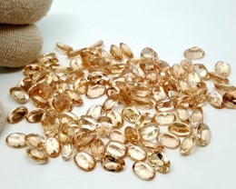 80CT MORGANITE CALIBRATED OVAL FACETED GEMSTONE LOT PARCEL