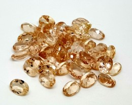 25CT MORGANITE CALIBRATED OVAL FACETED GEMSTONE LOT PARCEL