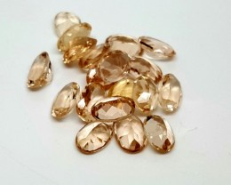 10CTMORGANITE CALIBRATED OVAL FACETED GEMSTONE LOT PARCEL