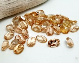 20CT MORGANITE CALIBRATED OVAL FACETED GEMSTONE LOT PARCEL