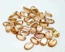 45CTMORGANITE CALIBRATED OVAL FACETED GEMSTONE LOT PARCEL