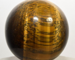 "2"" Natural Golden Tiger Eye Crystal Sphere Ball - Africa (STYTB-NA111)"
