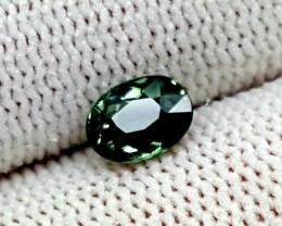 GREEN TOURMALINE 0.60CT OVAL FACETED GEMSTONE