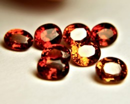 6.09 Tcw. Orange / Amber Spessartite Garnets - Gorgeous