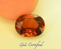 GiL Certified 1.44 ct Natural Zircon Untreated Combodia PR.1