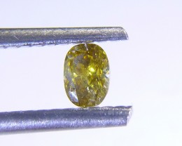 0.21ct Fancy Deep Yellow  , 100% Natural Gemstone