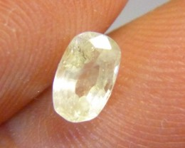 0.87ct Yellow Ceylon Sapphire , 100% Natural Untreated Gemstone