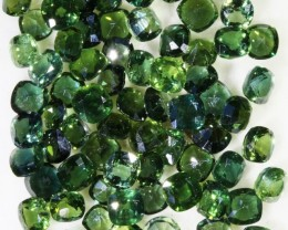 26.40 Cts Commercial Parcel Parti Green 4-5  Sapphire GOGO 1581