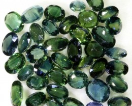 24.60 Cts Commercial Parcel parti green  Sapphire GOGO 1603