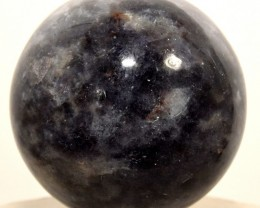 "2.1"" Natural Blue Iolite Sphere Crystal Mineral Ball India (STIOBNA76)"
