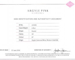 0.15 ct Certified Argyle Pink diamond  P015R6P/B
