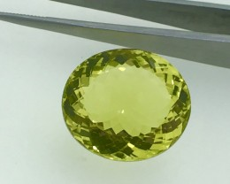24.60 Carats Beautiful Lemon Quarts Stunning Luster Faceted Cut Gemstone