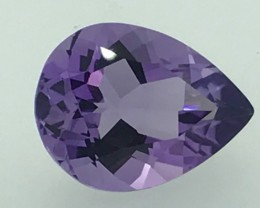7.85 Carats Heart Attracted Amethyst Good Cut Gemstone