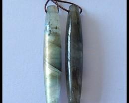 25.5Ct Natural Labradorite Gemstone Earring Beads(A1882)