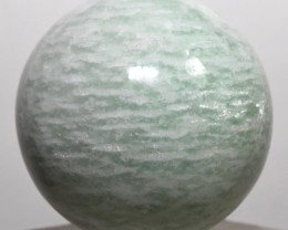 "2.25"" Natural Green AMAZONITE Sphere Feldspar Crystal India STAMS-NB5"