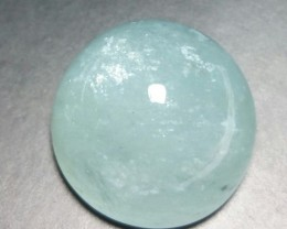21.25ct 17 by 10mm Aquamarine cabochon from Brazil