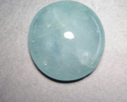 10.55ct 14.5 by 7mm Aquamarine cabochon from Brazil
