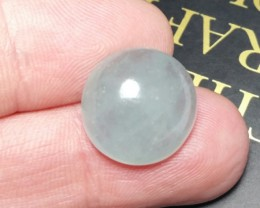 12.60ct 15.5 by 7mm Aquamarine cabochon from Brazil