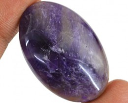 Genuine 53.00 Cts Oval Shape Purple Amethyst Cab