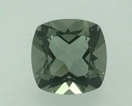 5.25 Natural Green Amethyst Faceted Cut Gemstone