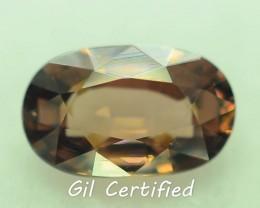GiL Certified 1.72 ct Natural Zircon Untreated Combodia PR.1