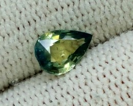 GREEN SAPPHIRE 0.75CT PEAR FACETED GEMSTONE
