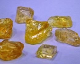66.65 Ct Natural - Unheated Citrine rough lot