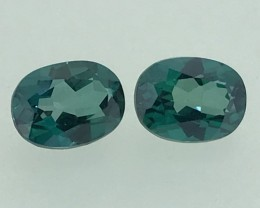 3.45 Topas Pair Oval Faceted Cut Gemstone