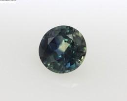 0.74cts Natural Australian Blue Parti Sapphire Round Cut