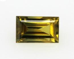 0.48cts Natural Australian Yellow Parti Sapphire Baguette Cut