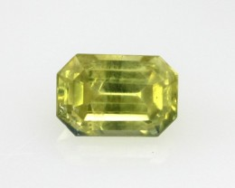 0.64cts Natural Australian Yellow Sapphire Emerald Cut
