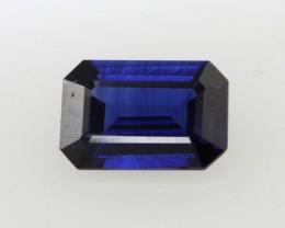 0.51cts Natural Australian Blue Sapphire Emerald Cut