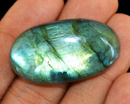 Genuine 69.00 Cts Oval Shape Untreated Labradorite Cab