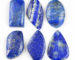 Genuine 133.50 Cts Blue Lapis Lazuli Cab Lot