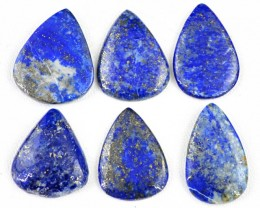Genuine 131.50 Cts Blue Lapis Lazuli Cab Lot