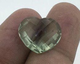 9.34 Carats Natural Prasoilite  Stunning Luster Top Faceted Cut Gemstone