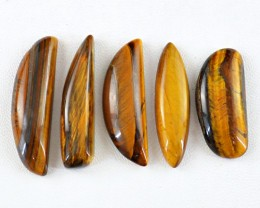 Genuine 137.00 Cts Golden Tiger Eye Untreated Cab Lot