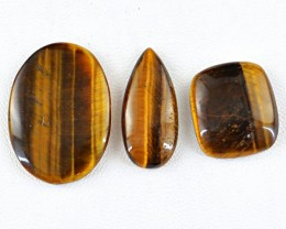 Genuine 65.00 Cts Golden Tiger Eye Untreated Cab Lot