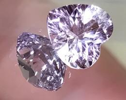 A Jewellery grade Rose de France Amethyst - Heart cut stone