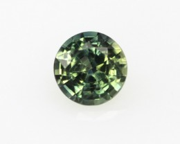 0.41cts Natural Australian Yellow/Blue Parti Sapphire Round Cut