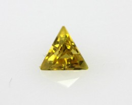 0.22cts Natural Australian Yellow Sapphire Triangle Cut
