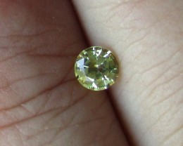 0.43cts Natural Australian Yellow Sapphire Round Cut