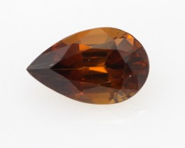 1.35cts Natural Australian Reddish Brown Zircon Pear Shape