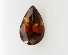 1.25cts Natural Australian Brownish/Red Zircon Pear Shape