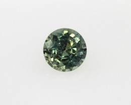 0.40cts Natural Australian Yellow/Blue Sapphire Round Cut