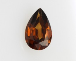 1.04cts Natural Australian Brownish/Red Zircon Pear Shape